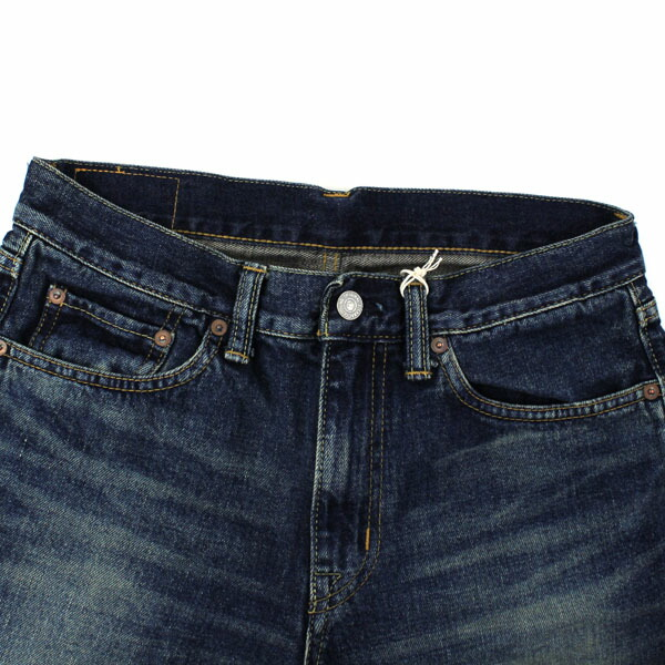 Detailed image of DEEP BLUE( Deep Blue) cotton boyfriend ankle length denim underwear .73388