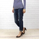 DEEP BLUE (deep blue) cotton polyurethane stretch denim leggings pants (distressed), 73601-1621302