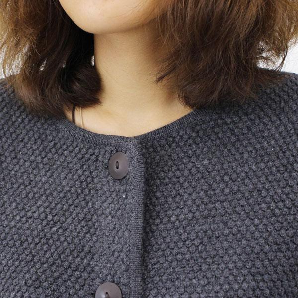 NIMES(ニーム) ウール  ポップコーン編み ノーカラー ニット  ロングコート・NLK3509042 の詳細画像