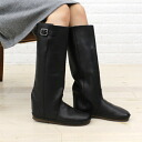 Koos (course) Buffalo leather belted boots-NINA-L-0241302