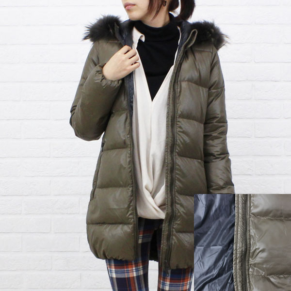 "Color image of food middle length coat ""KAPPA"", KAPPA with the DUVETICA( デュベティカ) nylon down fur"