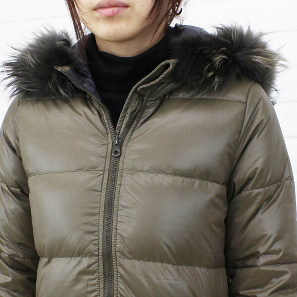 """Detailed image of food middle length coat """"KAPPA"""", KAPPA with the DUVETICA( デュベティカ) nylon down fur"""