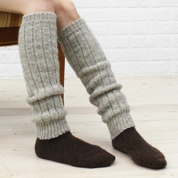 格兰奇工艺 (格兰奇工艺) 羊毛针织护腿雅各布绵羊毛和 j-腿-0241302