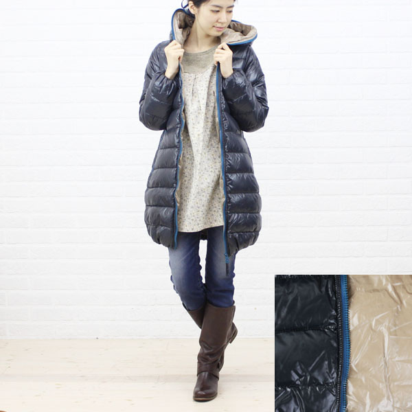 "DUVETICA( デュベティカ) nylon down hooded middle length coat ""ACE"", color image of the ACE"