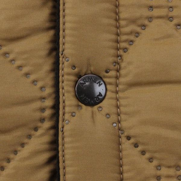 ARMEN(アーメン) ポリエステル キルティング  リバーシブル フード付き  ジャケット・NAM0562 の詳細画像