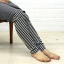 Saintete( sun Tete) cotton cashmere horizontal stripe fraise length leggings, CSB004-1461302