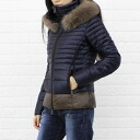 "DUVETICA( デュベティカ) nylon Fox fur down jacket ""NYX"", NYX-0241302 fs3gm"