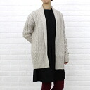 emmaculate( エマキュレイト) wool cable knitting drape knit cardigan, 2133K-30710-1401302