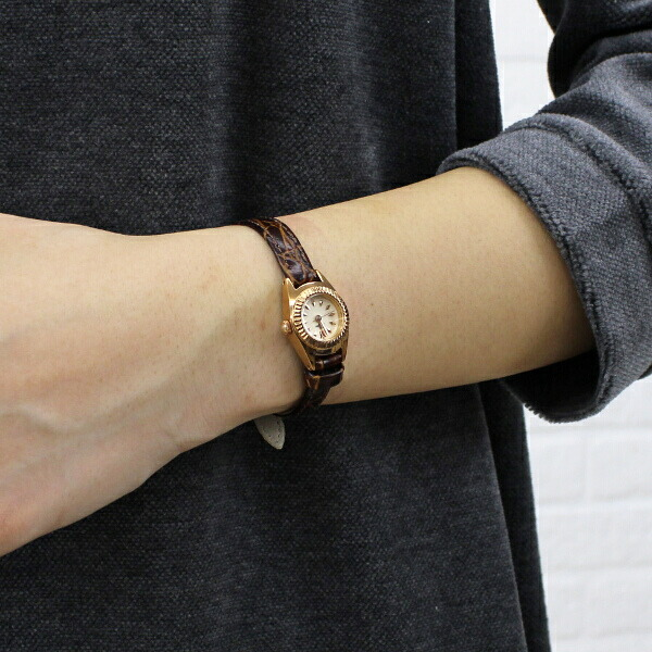 Tulipa(チュリパ) レザーベルト ピンクゴールド 腕時計・TU04-LPG のカラー画像