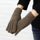 GLEN GORDON( Glenn Gordon) Angola blend wool moss-stitch gloves, NGG1161L&G-0341302