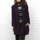 PUPULA( ププラ) mohair blend shawl long cardigan .339201-0141302