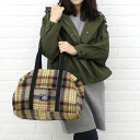 Johnson woolen mills (ジョンソンウーレンミルズ) wool nylon check handle Boston bag-BOSTON-C-0661302