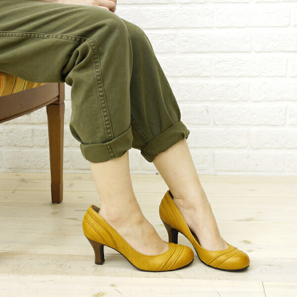 Color image of atelier brugge (bramble finch Ebb rouge) leather round pumps (calf) .7200