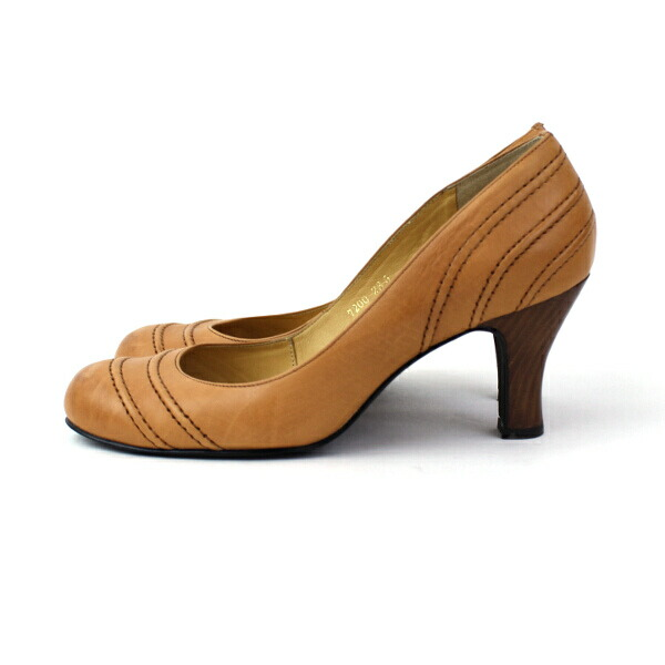 Detailed image of atelier brugge (bramble finch Ebb rouge) leather round pumps (calf) .7200