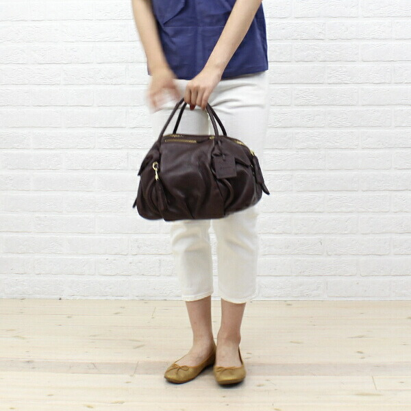 "Color image of PotioR( ポティオール) goat leather 2way Boston bag ""CREMA BOSTON"", GO-0006SS"