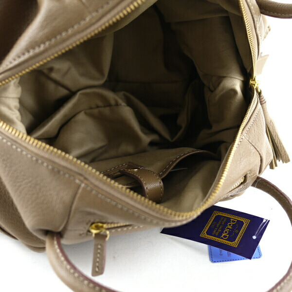 "Detailed image of PotioR( ポティオール) goat leather 2way Boston bag ""CREMA BOSTON"", GO-0006SS"