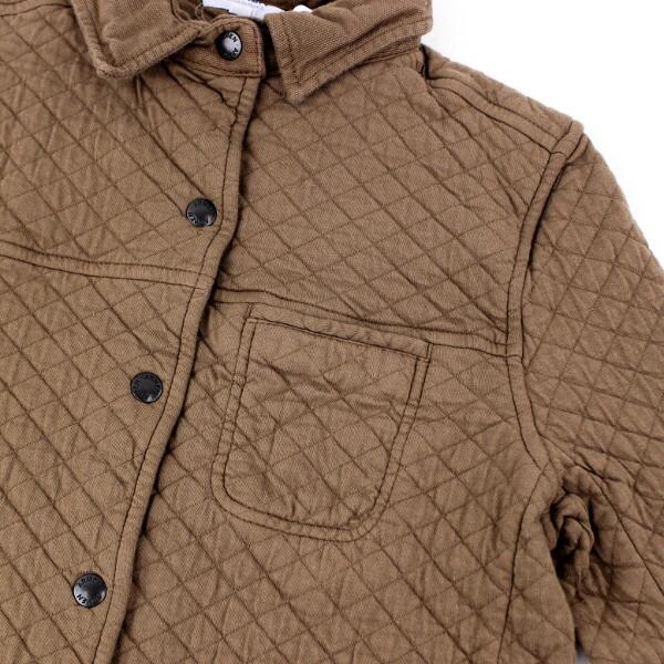 ARMEN(アーメン) コットン ポリエステル キルティング シャツカラー ジャケット・NAM0604 の詳細画像