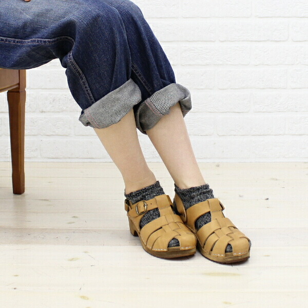 Color image of EXPERT( expert) leather strap sabot sandals, NEP0801