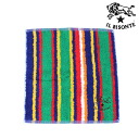 IL BISONTE (イルビゾンテ) cotton stripe pattern hand towel-5462300099-0061302