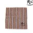 IL BISONTE( イルビゾンテ) cotton stripe pattern mini-towel .5422310099-0061302