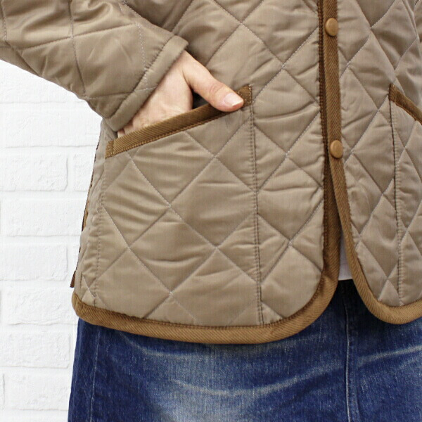 "Detailed image of LAVENHAM( ラベンハム) polyester food Liberty quilting jacket ""CRAYDON LIBERTY"", CRAYDON-LIB"