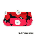 "marimekko( marimekko) コットンウニッコ pattern oblong pouch accessory case ""MINI UNIKKO SILMALASI KUKKARO"" .5263131535-0061302"