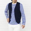 TOMORROW LAND (Tomorrowland) cotton V neck knit vest, 63-02-41-02603-0171401