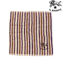 IL BISONTE( イルビゾンテ) cotton stripe pattern hand towel .5462300099-0061401