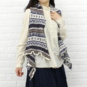 2000 HIGHLAND2000( highland) linen cotton Fair Isle pattern shawl best, NHL0903-0341301 fs3gm