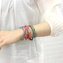 "7 wakami( ワカミ) unisex cord bracelet ""Earth"" Japan-limited model strand bracelets (seven sets), WA0389-J-3171401"
