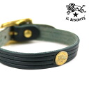Bracelet .5412305197-0061401 with the IL BISONTE( イルビゾンテ) leather concho