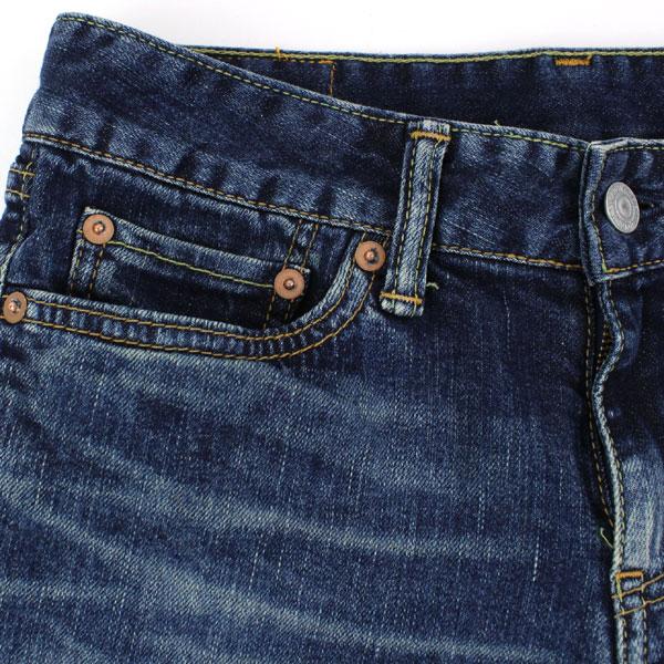 DEEP BLUE(ディープブルー) コットン ポリウレタン 10オンス 甘織 ストレッチデニム  スリムパンツ(ユーズド)・73600 の詳細画像