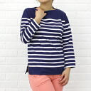 ORCIVAL( オーチバル オーシバル) cotton long sleeves boat neck rale horizontal stripe T-shirt (navy base), 6803NW-0321302 fs3gm