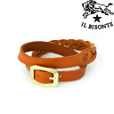 Two IL BISONTE( イルビゾンテ) leather mesh & normal bracelets .5432409197-0061302