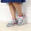 "new balance( New Balance) suede mesh running sneakers ""WL574"", WL574-0541401"