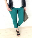 ".26106-2,291,302 caqu( サキュウ) cotton nine minutes length color tapered pants ""Color relax pencil"" fs3gm"
