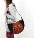 IL BISONTE (イルビゾンテ) leather canvas 3-WAY shoulder bag (5452302020), 5452302020-0061202