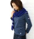 ORCIVAL (オーチバル-オーシバル)-cotton バスクシャツ length sewn boat neck (borders & without land), B211-0321302