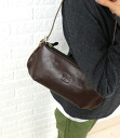 IL BISONTE( イルビゾンテ) leather oblong shoulder bag .411919-0061302
