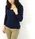 "three dots (threadz) cotton long sleeve U neck cut and sewn ""Jessica T l/s""-AA 2S-316-0441302"