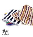 IL BISONTE (ilbizonte) cotton stripe pattern hand towel-5462300099-0061402