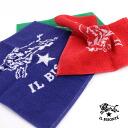 IL BISONTE (ilbizonte) cotton logo with hand towel-5432404199-0061402