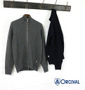 ORCIVAL (auch bar, or SIBL) woolen stand collar zip-up knit Cardigan-RC-4172-0321402