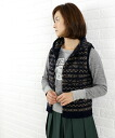 ■ ■ (Jamison Ze) JAMIESON's wool fair Isle hooded knit vest and NJMS0753-0341302.