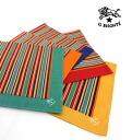 IL BISONTE (ilbizonte) cotton stripe pattern oversized bandana-411671-0061402