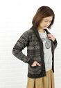 (Jamison Ze) JAMIESON's Shetland wool all over fair Isle shawl collar Cardigan-NJMS1061-0341302