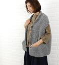■ ■ CALIMAR (カリマール) Alpaca nylon wool covered ボタンショールカラーニット best Cardigan and NCL 1191P-0341302