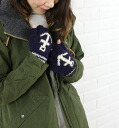 Black Sheep (black sheep) wool hand NET embroidered fingerless gloves-SM 08A-0311402
