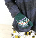 ROBERT MACKIE (McKee) wool Nordic point pattern gloves & GL228-0311302