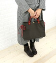 .5432302920-0061302 tote bag fs3gm with the IL BISONTE( イルビゾンテ) cotton canvas leather side ribbon
